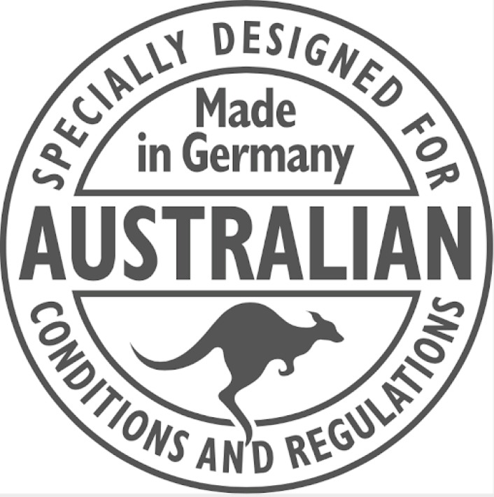 Made in Germany and designed for Australia icon